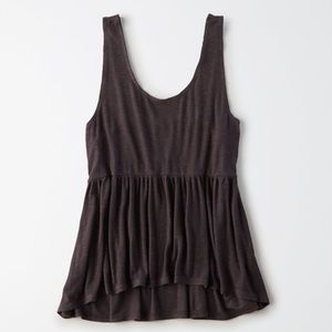 American eagle peplum tank top